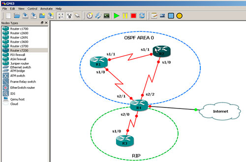 GNS3 Grafical Network Simulator