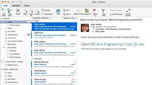 Microsoft Outllok Mac