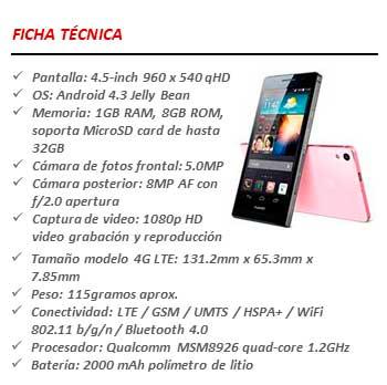Huawei Ascend G6 4G LTE ficha técnica