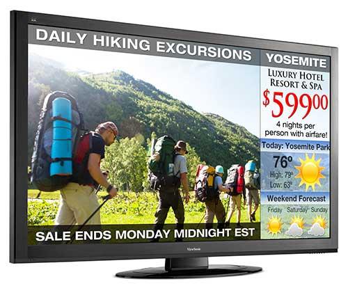 ViewSonic displays comerciales CDE5500-L y CDE6500
