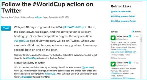 Tweeter #WorldCup