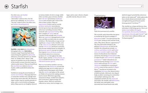 Windows 8 Wikipedia Aplicación Metro
