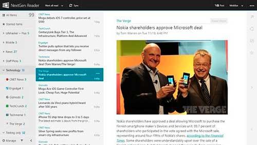 NetGen Reader Windows 8