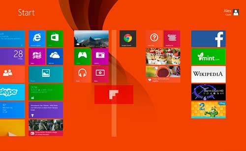 Windows 8 interfase metro crear columnas