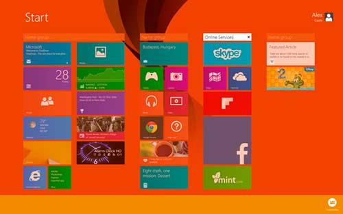 Windows 8 interfase metro modern crear títulos