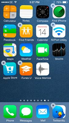 Eliminar apps iPad iPhone