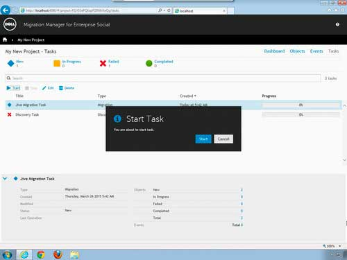 Dell Migration Manager for Enterprise Social