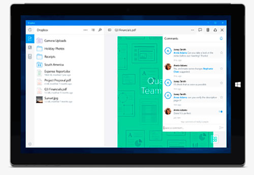 Dropbox Windows 10