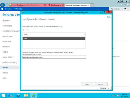Configurar Microsoft Exchange Server