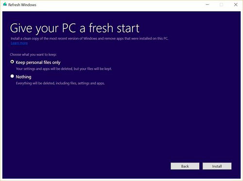 Microsoft Refresh Windows
