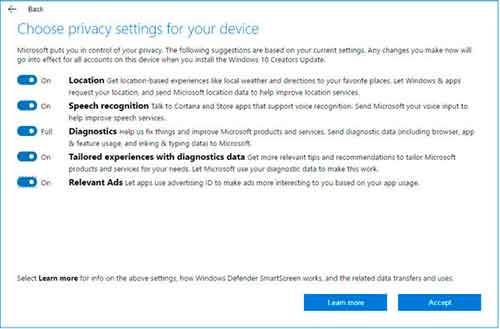 Windows 10 privacidad y seguridad
