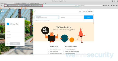 Eset, WeTransfer