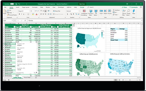Microsoft Office 365, Excel