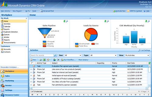 microsoft dynamics crm online