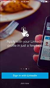 aplicación ios linkedin búsqueda de trabajo