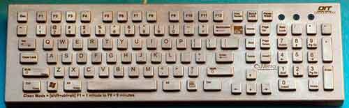 teclado de cobre operator interface