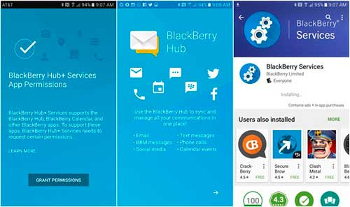 blckberry hub android