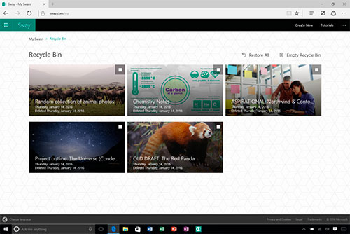 micrsoft sway