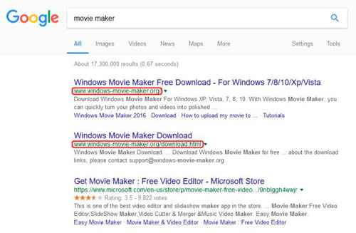 spam windows movie maker, eset