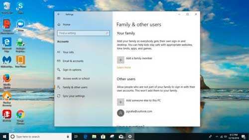 windows 10, compartir pc