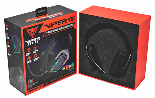 headset para gamers viper v380 virtual 7.1 surround sound rgb